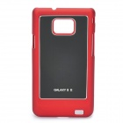 Protective Aluminum Alloy Cover PC Back Case for Samsung Galaxy i9100 - Red + Black