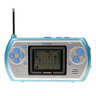 Multi-Game LCD Video Game Console with FM Radio (Soccer+Tennis+4-in-a-Row+Fighter+Hockey)