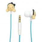 Lovely Girl Style In-Ear Earphone with Wire Organizer / Carabiner Clip / Carrying Pouch - Blue