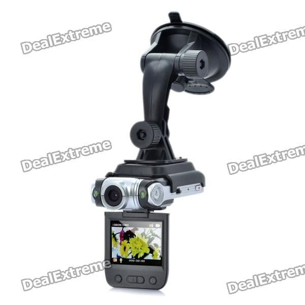 цена на 1080P Wide Angle Car DVR Camcorder w/ 2-LED Night Vision / HDMI / AV-Out / TF (2 LCD)