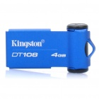 Genuine Kingston DataTraveler DT108 USB 2.0 Flash Drive - Blue (4GB)