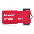 Genuine Kingston DataTraveler DT108 USB 2.0 Flash Drive - Red (8GB)