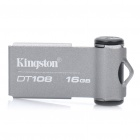 Подлинная Kingston DataTraveler DT108 USB 2.0 Flash Drive - серебро (16 Гб)