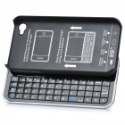 Ultrathin Bluetooth Slide-Out Keyboard Hard Case for Apple iPhone 4S / 4 - Black