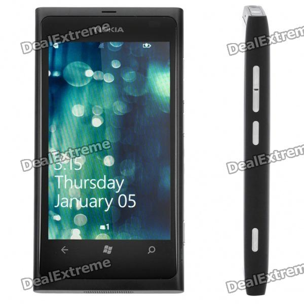 Nokia Lumia 800 WCDMA WP7.5 Mango Smartphone w/ 3.7 Capacitive, Wi-Fi and GPS - Black (16GB) nokia n8 symbian^3 wcdma smartphone w 3 5 capacitive gps 12mp camera and wi fi grey 16gb