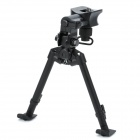 Retractable Aluminum alloy Rifle Bipod (26~ 35cm / 30KG-Bearing Weight)