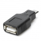 USB Female to Micro USB Male Adapter Connector - Black