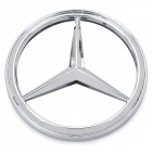 3D Benz Logo Badge White Light - Silver (DC 12V)