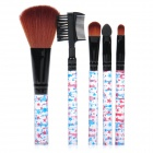 5-in-1 Natural Hair Make Up Brushes Set