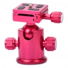 Tripod Ball Head with Quick Release Plate Adapter - Red