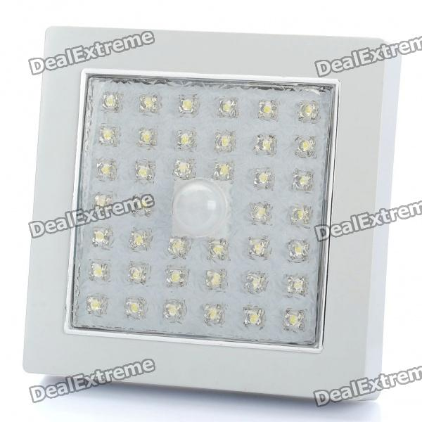 Square Shaped 3.5W 350-400LM 5500-6500K White 39-LED Ceiling Light Lamp with Sound / Light Sensor от DX.com INT