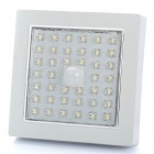 Square Shaped 3.5W 350-400LM 5500-6500K White 39-LED Ceiling Light Lamp with Sound / Light Sensor