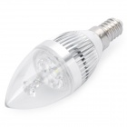 E14 3W 7000K 270-Lumen 3-LED White Light Bulb (AC 180-240V)