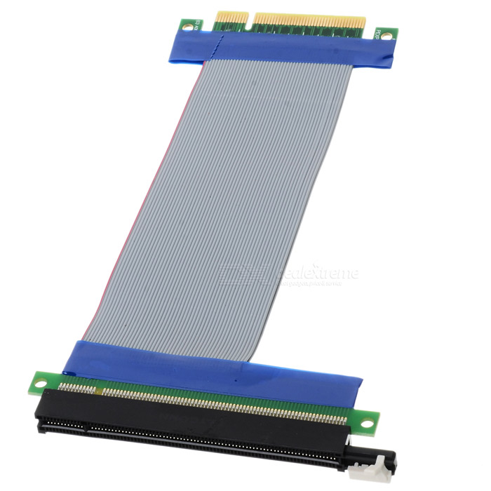 PCI Express PCI-E 8X to 16X Riser Card Extender Ribbon Cable (15.5cm) 6 pack pcie riser pci e 16x 8x 4x 1x powered adapter card 60cm usb 3 0 extension cable and 6 pin to 15 pin sata