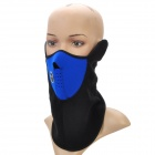 Ergonomic Outdoor Sports Short Plush Fabric Mask - Blue