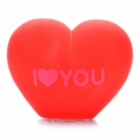 Cute Heart Shaped Color Changing Night Light Lamp - Deep Red (3 x AG13)
