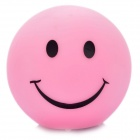 Cute Smile Face Style Color Changing Night Light Lamp - Pink (3 x AG13)