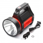 Handheld Rechargeable 2-Mode 150-LM White 1-LED Flashlight - Red + Black