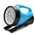 Handheld Rechargeable 2-Mode White 30-LED Flashlight with Stand - Blue + Black