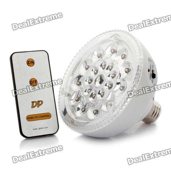 E27 Rechargeable Energy Saving 1.1W 120LM 7000K White 20-LED Emergency Light Bulbs with Remote brightinwd led e27 energy saving rechargeable intelligent light bulb lamp emergency lights