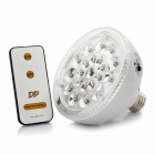 E27 Rechargeable Energy Saving 1.1W 120LM 7000K White 20-LED Emergency Light Bulbs with Remote