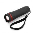 80LM 3300-6000K Cree 1W White Light Zoom Flashlight - Black + Red ( 3 x AAA)