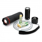 80LM 3300-6000K 1W White Light Zoom Flashlight - Black + Red ( 3 x AAA)