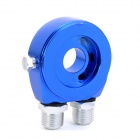 Car Engine Oil Cooler Adapter - Blue