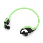 Sports Bluetooth Stereo Handsfree Headset Headphone - Black + Green