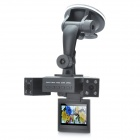 H3000 Dual Lens Wide Angle Car DVR Camcorder w/ 8-IR LED / TF (2