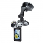 "HD 1080P Wide Angle 4X Digital Zoom Car DVR Camcorder w/ 1-LED Light / HDMI / AV / SD (2.5"" TFT LCD)"
