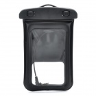 Universal Waterproof Bag w/ 3.5mm Earphone / Armband / Strap for Iphone / Cell Phone - Black