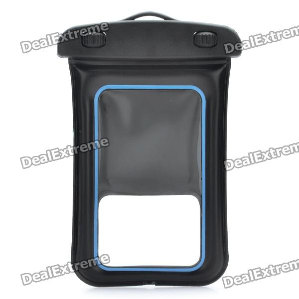 все цены на Universal Waterproof Bag with Armband / Strap for Iphone / Cell Phone - Black + Blue