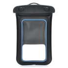 Universal Waterproof Bag with Armband / Strap for Iphone / Cell Phone - Black + Blue
