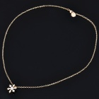 Elegant Snowflake Style Crystal Gold Plated Necklace - Golden (24cm-Length)