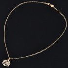 Fashionable Rose Style Crystal Gold Plated Necklace - Golden (24.5cm-Length)