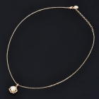 Fashionable Pearl Tray Style Gold Plated Necklace - Golden (25cm-Length)