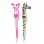Cute Pink Pig + Zebra Style Ball Pen Set (Pair)