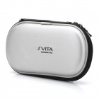 Protective PU Leather Carrying Pouch w/ Carabiner Clip for PS Vita - Silver
