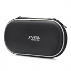 Protective PU Leather Carrying Pouch w/ Carabiner Clip for PS Vita - Black