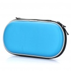 Protective Dual Zipper Hard Leather Case with Carabiner Clip for PS Vita - Blue + Black