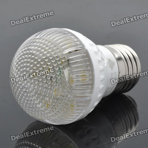 E27 2W 4500K 140LM 10-LED Warm White Light Bulb - White (220V)