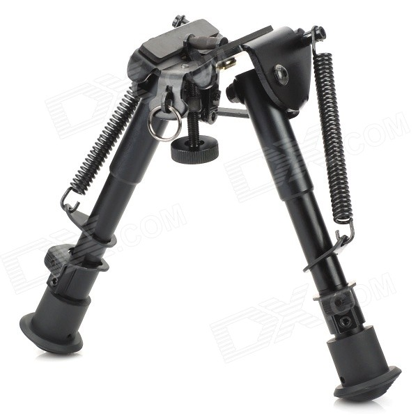 M-3 Retractable Aluminum Alloy Tactical Spring Loaded Bipod Rifle Stand for M4 / M16 (Max. 15KG) 6 aluminum alloy tactical bipod w extendable leg for guns black
