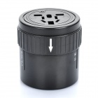 Universal 4-In-1 Cylindrical Retractable Plug Converter (110~250V)
