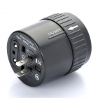 Universal 4-In-1 Cylindrical Retractable Plug Adapter (110~250V)