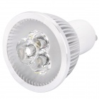 GU10 3W 240-300LM 6000-6500K White 3-LED Spot Light Bulb (220V)
