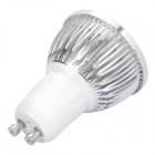 GU10 3W 240-300LM 6000-6500K White 3-LED Spot Light Bulb (110~240V)