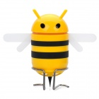Cute Bee Style USB Rechargeable MP3 Music Speaker w/ FM / Line-In / USB / TF - Yellow