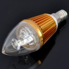 E14 3.9cm 3W 3-LED 6500K 300-Lumen Candle Style White Light Bulb (220V AC)