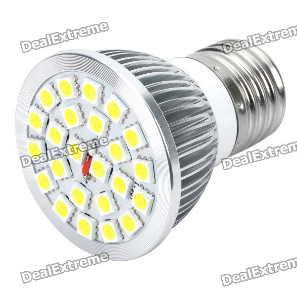 E27 4.5W 24-SMD 5050 LED 6500K 400-Lumen White Light Lamp Bulb